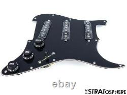 New Fender Stratocaster Loaded Pickguard Strat Texas Special Black 3 Ply 11 Trou