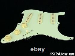 New Fender Stratocaster Loaded Pickguard Strat Vintage 59 Mint Green 3ply 8 Trou