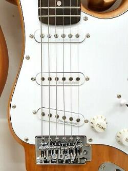 Newen Stratocaster Ghost Electric Guitar Made Argentina Solid White Oak Natural