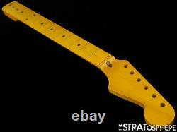Nouveau Allparts Fender Sous Licence Pour Stratocaster Strat Neck Maple C Nitro Smnf-c