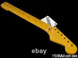 Nouveau Allparts Fender Sous Licence Pour Stratocaster Strat Neck Maple Nitro Smnf