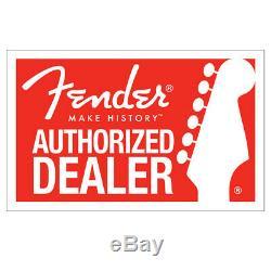 Nouveau Fender Classic Series Bois Guitar Hard Case Stratocaster Telecaster Noir