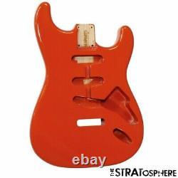 Nouveau Fender LIC Stratocaster Body Strat Allparts Vintage Style Fiesta Red Sbf-fr
