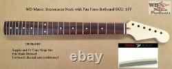 Nouveau Fender Licenced Wd Music Stratocaster Strat Neck Avec Pau Ferro Fretboard