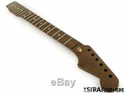 Nouveau Fender Stratocaster LIC Wd Strat Remplacement Cou Tous Wenge Moderne 22 Chantourner