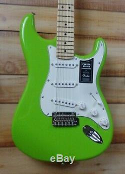 Nouveau Joueur Fender Stratocaster Limited Edition Maple Fingerboard Electron Vert