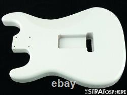 Nouveau Organe De Remplacement Pour Stratocaster Fender, Frêne Rôti, Blanc Olympique