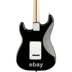 Pack De Guitare Électrique Squier Stratocaster Avec Fender Frontman 10g Amp Noir