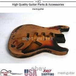 Pour Fender Stratocaster St Electric Guitar Body Vintage Sunburst Heavy Relic USA