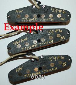 Pour Stratocaster'59 Vintage Pickups Set Hand Wound Par Migas Touch Strat