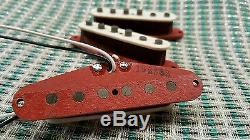 Red Canette Fullerton Style De Ramassage Fixé Pour Fender Strat
