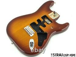 Série Fender Deluxe Stratocaster Strat Body + Hardware 2 Point Tobacco Burst