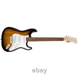 Squier Sss Stratocaster Electric Guitar Brown Sunburst Avec Fender Play