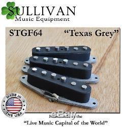 Stratocaster Custom Shop Micros Main Wound Texas Gris Correspond À Fender Strat Stgf64