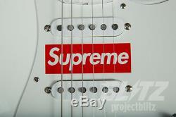 Stratocaster Supreme / Fender Guitar Box Blanc Rouge Logo Fw17 2017 Accessoires Cdg