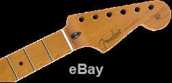 Véritable Fender Strat Roasted Maple / Stratocaster Cou, Frettes Jumbo / 12 / Ovale Plat