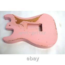 Vintage Pink Electric Guitar Body Sss Pour Relique De Remplacement Stratocaster Fender